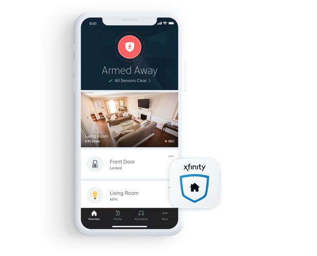 Home security app on phone